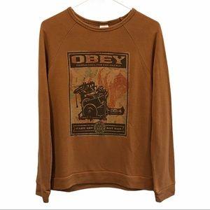 Obey propaganda long sleeve shirt women's size M